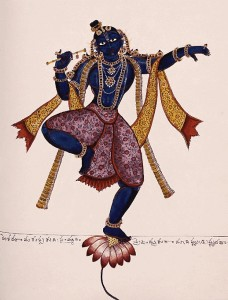 Gopal dancing in the heart